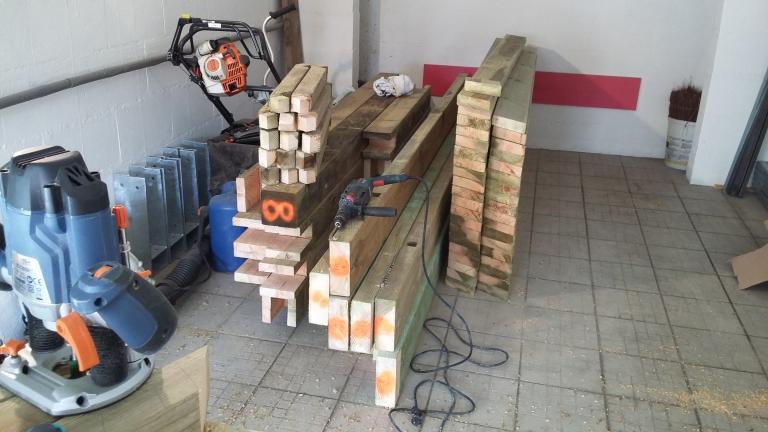 Carport - Préparation dans notre atelier