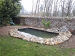 Création complète d'un bassin avec petite cascade
