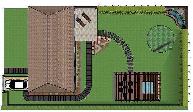 Plan d'un jardin