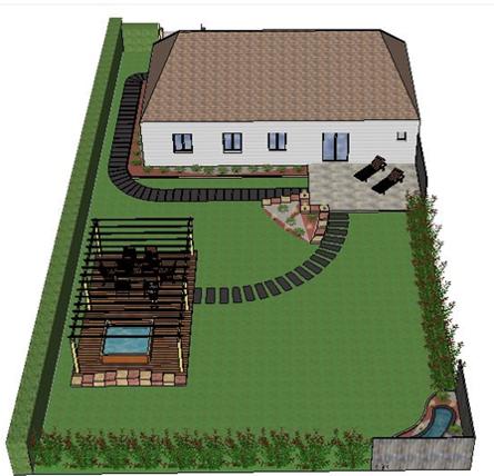 Jardin en 3D dans son ensemble
