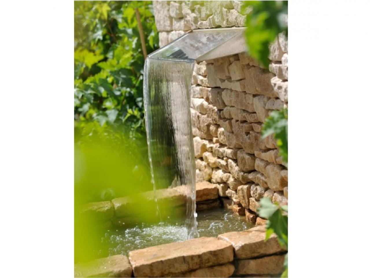 Lame d'eau avec petit bassin