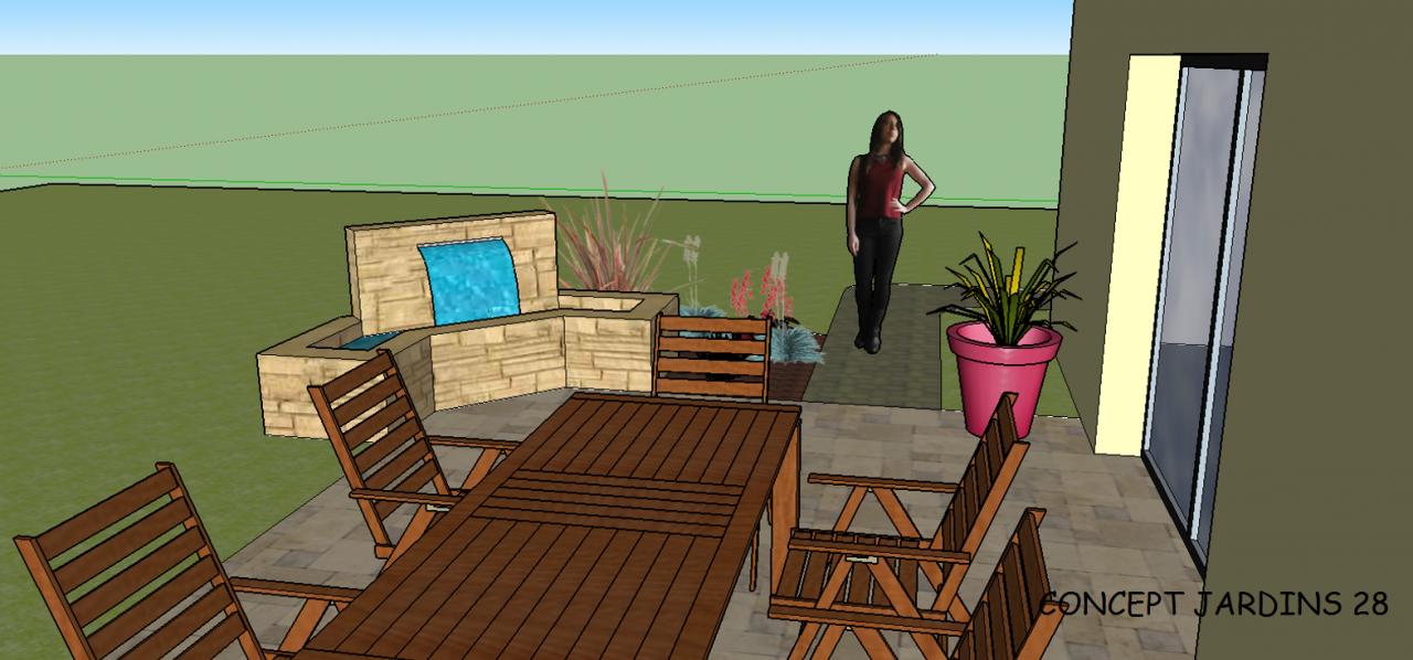 Exemple de réalisation 3D d'une terrasse